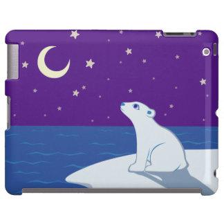 Arte Stargazing de Cub del oso polar Funda Para iPad