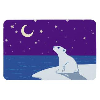 Arte Stargazing de Cub del oso polar Imanes Flexibles