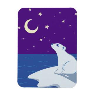 Arte Stargazing de Cub del oso polar Imán Rectangular