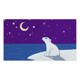 Arte Stargazing de Cub del oso polar Tarjetas De Visita