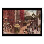 Arte-State y Randolph 1940 de Chicago del Notecard Tarjeta