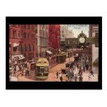 Arte-State y Randolph 1940 de Chicago del Postal-V Tarjeta Postal