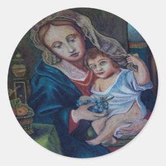 arte round stickers