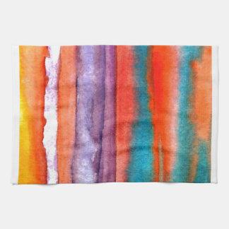 Arte suave de las olas oceánicas de la puesta del toalla de mano