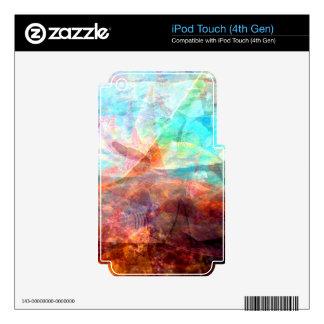 Arte subacuático inspirador hermoso de la escena iPod touch 4G skin