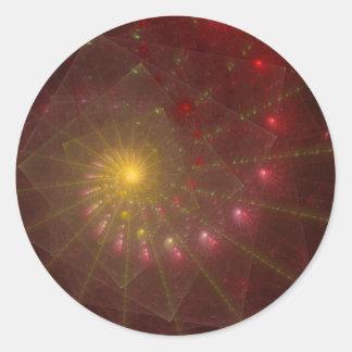 """Arte subió """"espacio"""" del fractal pegatina redonda"""