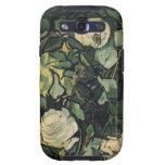 Arte subió vintage de los rosas blancos de Vincent Samsung Galaxy SIII Funda