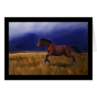 Arte súbito del caballo del trueno felicitación