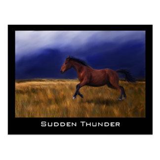 Arte súbito del caballo del trueno tarjetas postales