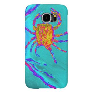 Arte submarino del cangrejo fresco fundas samsung galaxy s6