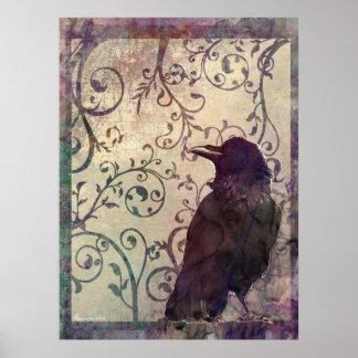 Arte surrealista de la mancha de la tinta de la ac póster