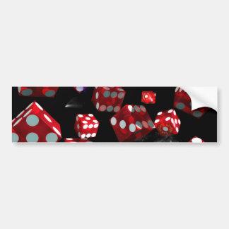 Arte surrealista de las impresiones del casino del pegatina de parachoque