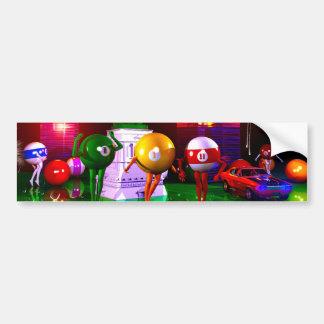 Arte surrealista de las impresiones del casino del etiqueta de parachoque