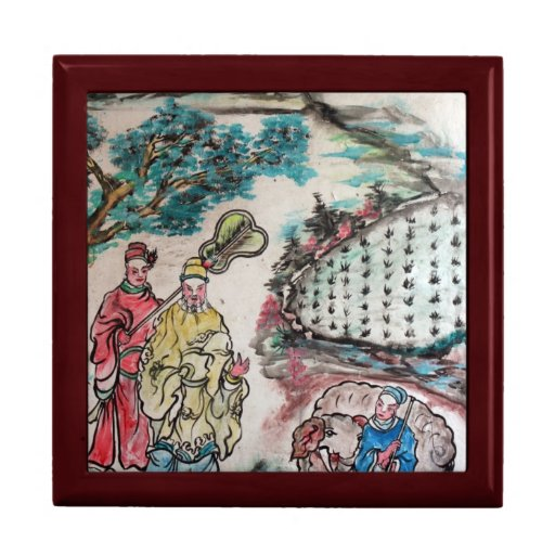 Arte taiwanés cajas de recuerdo