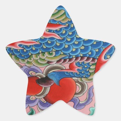 Arte taiwanés pegatina forma de estrella personalizadas