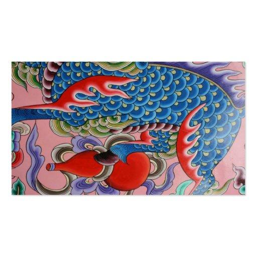 Arte taiwanés plantilla de tarjeta personal