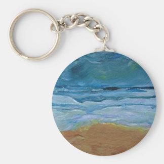 Arte tempestuoso del océano de CricketDiane de las Llavero Redondo Tipo Pin