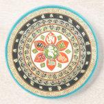 Arte tibetano de la mandala posavasos diseño