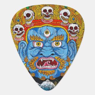 Arte tibetano fresco del tatuaje de la mandala de  uñeta de guitarra