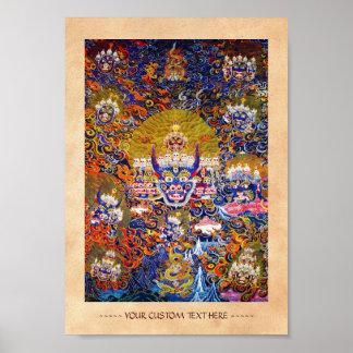 Arte tibetano oriental fresco del tatuaje de dios  impresiones