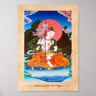 Arte tibetano oriental fresco del tatuaje de dios  posters