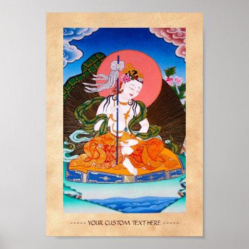 Arte tibetano oriental fresco del tatuaje de dios póster
