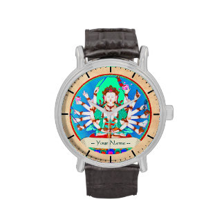 Arte tibetano oriental fresco del tatuaje de dios  relojes de pulsera