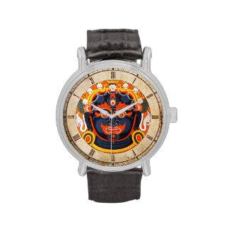 Arte tibetano oriental fresco del tatuaje de dios  relojes de mano