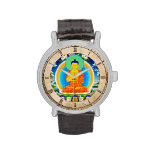 Arte tibetano oriental fresco del tatuaje de dios  relojes