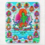 Arte tibetano oriental fresco del tatuaje de dios  alfombrillas de ratón