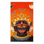 Arte tibetano oriental fresco del tatuaje de dios  tarjetas de negocios