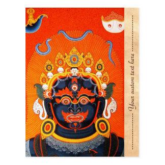 Arte tibetano oriental fresco del tatuaje de dios  postales