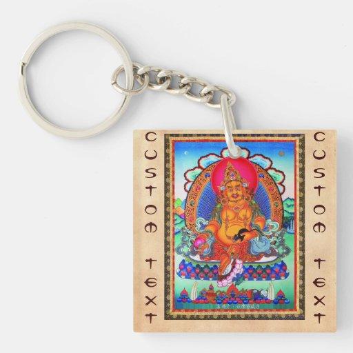 Arte tibetano oriental fresco del tatuaje de Jambh Llavero
