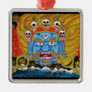 Arte tibetano oriental fresco del tatuaje del demo ornamente de reyes