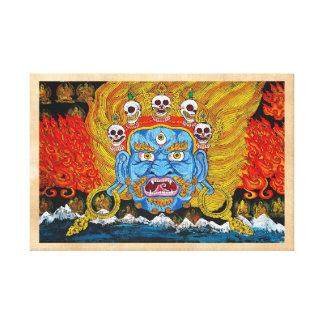 Arte tibetano oriental fresco del tatuaje del demo lona envuelta para galerias