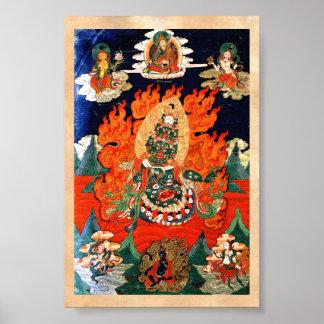 Arte tibetano oriental fresco del tatuaje del than poster