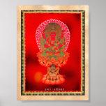 Arte tibetano oriental fresco Ragaraja del tatuaje Poster