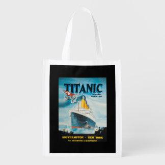 Arte titánico del poster del vintage del RMS Bolsas De La Compra