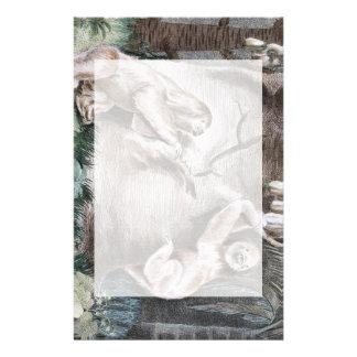 Arte tocado con la punta del pie del vintage de papelería