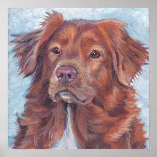 Arte tocante del toller del perro perdiguero del p impresiones
