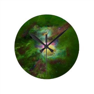 Arte tóxico del espacio de la cadera de la galaxia relojes de pared