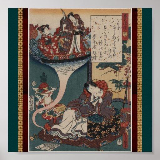 Arte-Toyokuni japonés Utagawa 10 del Poster-Vintag Póster