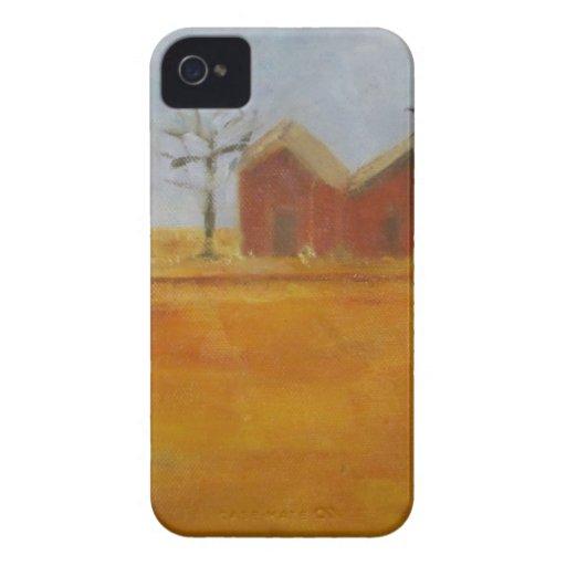 Arte tradicional de la pradera de la granja del pa Case-Mate iPhone 4 carcasas