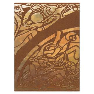 Arte tribal de Brown Suade del Celtic Papel De Seda Grande