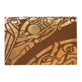Arte tribal de Brown Suade del Celtic Salvamanteles