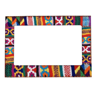 Arte tribal de la materia textil marcos magneticos