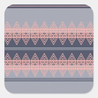 Arte tribal de moda del diseño geométrico del pegatina cuadrada