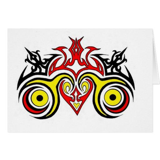Arte tribal del corazón tarjeta de felicitación