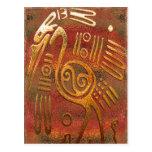 Arte tribal del cromo del oro de Mexicano Postal
