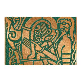 Arte tribal verde céltico salvamanteles